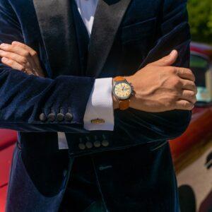 La montre de luxe de plongée Angelus U53 Tourbillon vert kaki